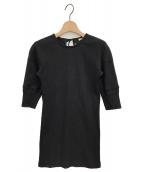 FUMIKA UCHIDA(フミカ ウチダ)の古着「バックリボンリブカットソー」|ブラック