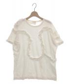 DRIES VAN NOTEN(ドリスヴァンノッテン)の古着「フリルデザインカットソー」|ホワイト