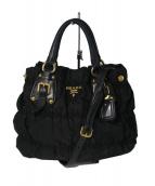PRADA(プラダ)の古着「ナイロン レザー 2WAYバッグ」|ブラック