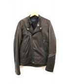 MACPHEE(マカフィー)の古着「ダブルライダースジャケット」 ブラック