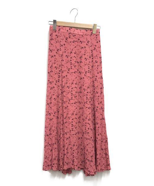 JOURNAL STANDARD relume(ジャーナルスタンダード レリューム)JOURNAL STANDARD relume (ジャーナルスタンダード レリューム) レーヨンドビーリーフプリントスカート ピンク サイズ:Sの古着・服飾アイテム