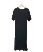 mizuiro-ind(ミズイロインド)の古着「カットソー半袖ワンピース」|ブラック