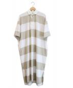 Gymphlex(ジムフレックス)の古着「ポロシャツワンピース」|ベージュ
