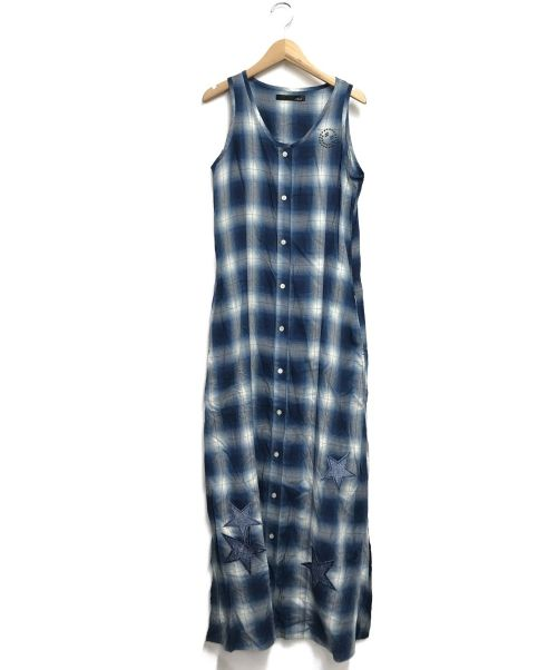 Stud.(スタッド)Stud. (スタッド) ノースリーブワンピース ブルー サイズ:Freeの古着・服飾アイテム