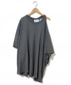 Maison Margiela 1(メゾンマルジェラ 1)の古着「ワンショルダーオーバーTシャツ」|グレー