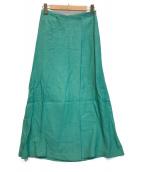 ()の古着「レーヨンリネンカルゼ ジャンパースカート」|グリーン