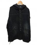 LEFLAH(レフラー)の古着「加工フーデッドデニムジャケット」|インディゴ