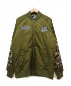 LEFLAH(レフラー)の古着「裏起毛MA-1ジャケット」|オリーブ