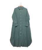 Plage(プラージュ)の古着「Linenシャツワンピース」|グリーン