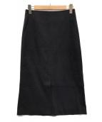 ()の古着「Iラインスカート」|ネイビー
