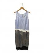 TOGA PULLA(トーガプルラ)の古着「異素材切替ワンピース」 ブルー