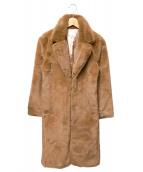 AERYNE(エリーン)の古着「フェイクファーコート」|ブラウン