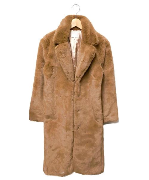 AERYNE(エリーン)AERYNE (エリーン) フェイクファーコート ブラウン サイズ:Sの古着・服飾アイテム