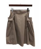()の古着「ホリースカート」|ベージュ