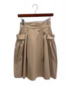 ()の古着「ホリースカート」 ベージュ