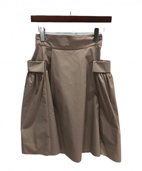 FOXEY NEWYORK(フォクシーニューヨーク)FOXEY NEWYORK (フォクシーニューヨーク) ホリースカート ベージュ サイズ:40の古着・服飾アイテム