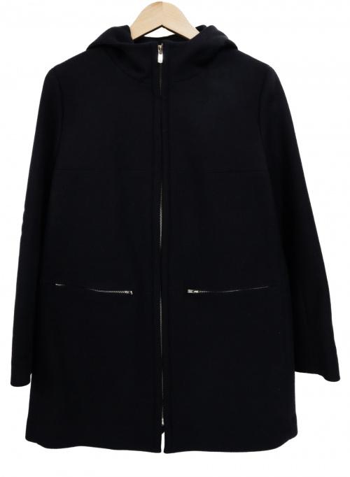 TOMORROW LAND(トゥモローランド)TOMORROW LAND (トゥモローランド) カシミヤ混ウールカルゼメルトンフードコート ブラック サイズ:38の古着・服飾アイテム