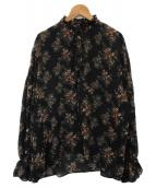 JOHNBULL(ジョンブル)の古着「ヴィンテージフラワーブラウス」|ブラック