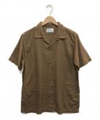 WORKERS(ワーカーズ)の古着「リネン混オープンカラーシャツ」|ブラウン