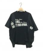 sacai(サカイ)の古着「×THE BIG LEBOWSKI 再構築Tシャツ」|ブラック