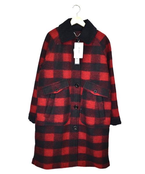 DIESEL(ディーゼル)DIESEL (ディーゼル) チェックウールコート ブラック×レッド サイズ:XS 未使用品の古着・服飾アイテム