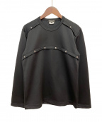 COMME des GARCONS HOMME PLUS(コムデギャルソンオムプリュス)の古着「スタッズカットソー」|ブラック