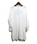 LIMI feu(リミフゥ)の古着「オーバーサイズカットソー」 ホワイト