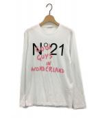 N°21(ヌメロ ヴェントゥーノ)の古着「ロゴプリントロングスリーブカットソー」|ホワイト