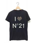 N°21(ヌメロ ヴェントゥーノ)の古着「ハートビジューTシャツ」|ブラック