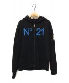 N°21(ヌメロ ヴェントゥーノ)の古着「ジップパーカー」|ブラック