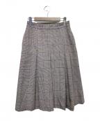 Loungedress(ラウンジドレス)の古着「ボックスプリーツスカート」 ブラウン
