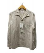 ()の古着「オープンカラーリネンシャツ」|ベージュ