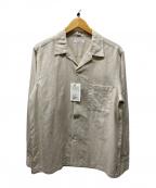 BEAUTY&YOUTH(ビューティアンドユース)の古着「オープンカラーリネンシャツ」 ベージュ