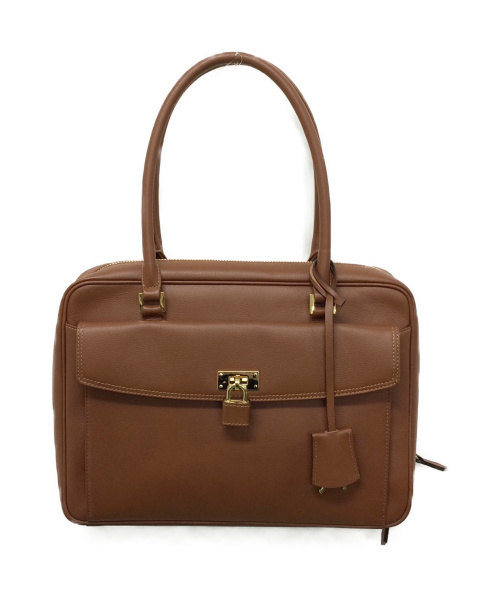 HAMANO(ハマノ)HAMANO (ハマノ) レザートートバッグ(ボストンバッグ) ブラウン サイズ:下記参照の古着・服飾アイテム