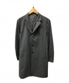 KAZUYUKI KUMAGAI ATTACHMENT()の古着「ナイロンストレッチチェスターコート」|ライトグレー
