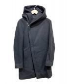 junhashimoto(ジュンハシモト)の古着「WRAP HOODED COAT」|ブラック