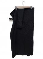 plantation(プランテーション)の古着「リネンワンショルダーサロペットスカート」 ブラック