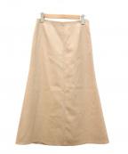 MUSE de Deuxieme Classe(ミューズ ドゥーズィエム クラス)の古着「フレアスカート」|ベージュ