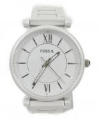 FOSSIL(フォッシル)の古着「リストウォッチ」 ホワイト