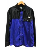 THE NORTH FACE(ザ ノース フェイス)の古着「ロングスリーブヌプシシャツ」|ブルー×ブラック