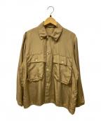 COMOLI(コモリ)の古着「シルクシャツ」|オリーブ