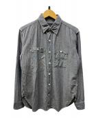 ()の古着「ワークシャツ」|ブルー