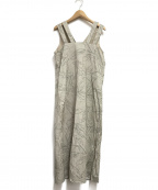 EMMEL REFINES(エメル リファインズ)の古着「アートプリントジレワンピース」|ベージュ