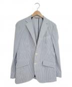 TAKEO KIKUCHI(タケオキクチ)の古着「ストライプシアサッカージャケット」 グレー
