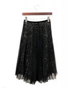 LOYD/FORD(ロイドフォード)の古着「チュールプリーツスカート」 ブラック