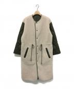 JANE SMITH(ジェーンスミス)の古着「リバーシブルボアコート」|ベージュ×カーキ