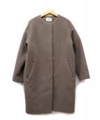 IENA(イエナ)の古着「ビーバーラムウールノーカラーコート」|グレー