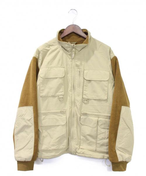 Supreme(シュプリーム)Supreme (シュプリーム) 19FW Upland Fleece Jacket ベージュ×ブラウン サイズ:Lの古着・服飾アイテム