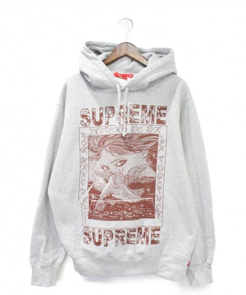 Supreme(シュプリーム)Supreme (シュプリーム) Doves Hooded Sweatshirt グレー サイズ:Lの古着・服飾アイテム
