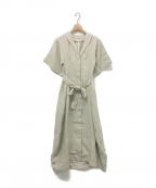 styling/ kei shirahata(スタイリング / ケイ シラハタ)の古着「オープンカラーコクーンワンピース」 ミント